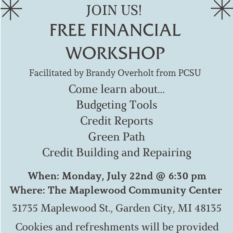 Financial Workshop - Morgan 2019