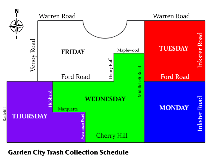 Trash Pick Up Schedule 2019