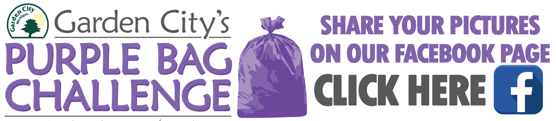 Share your pictures on the Purple Bag Challenge Facebook Page