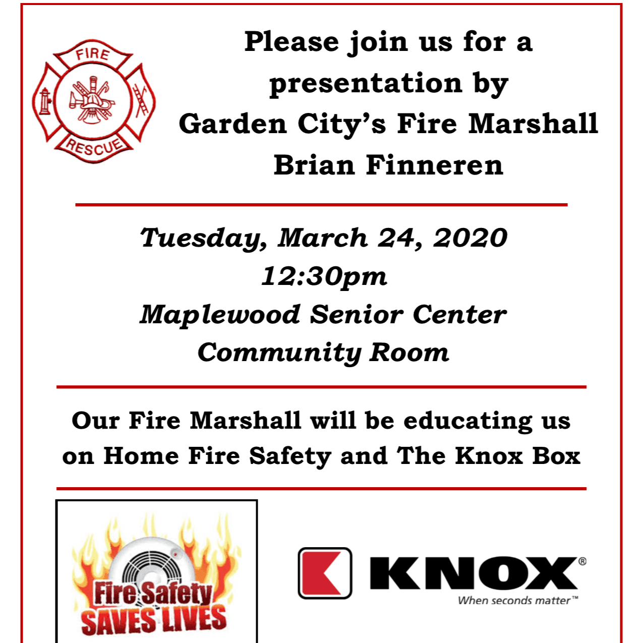 Fire Marshall March 2020