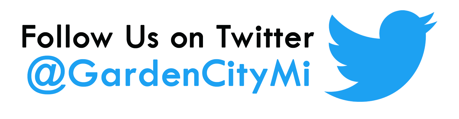 Follow Garden City on Twitter