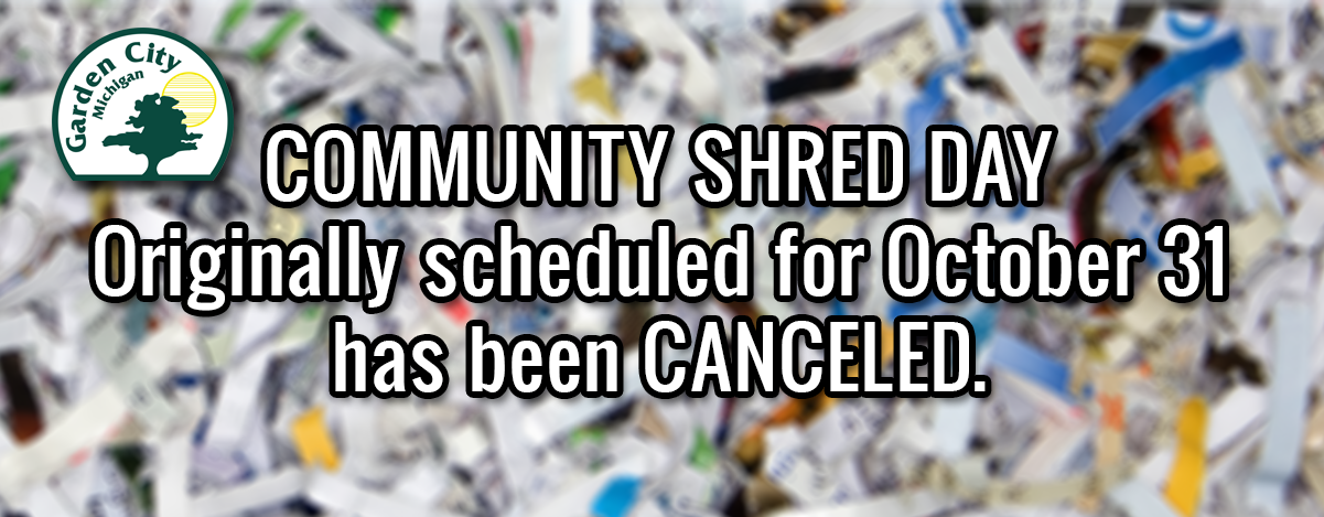 Community Shred Day CANCELED FALL