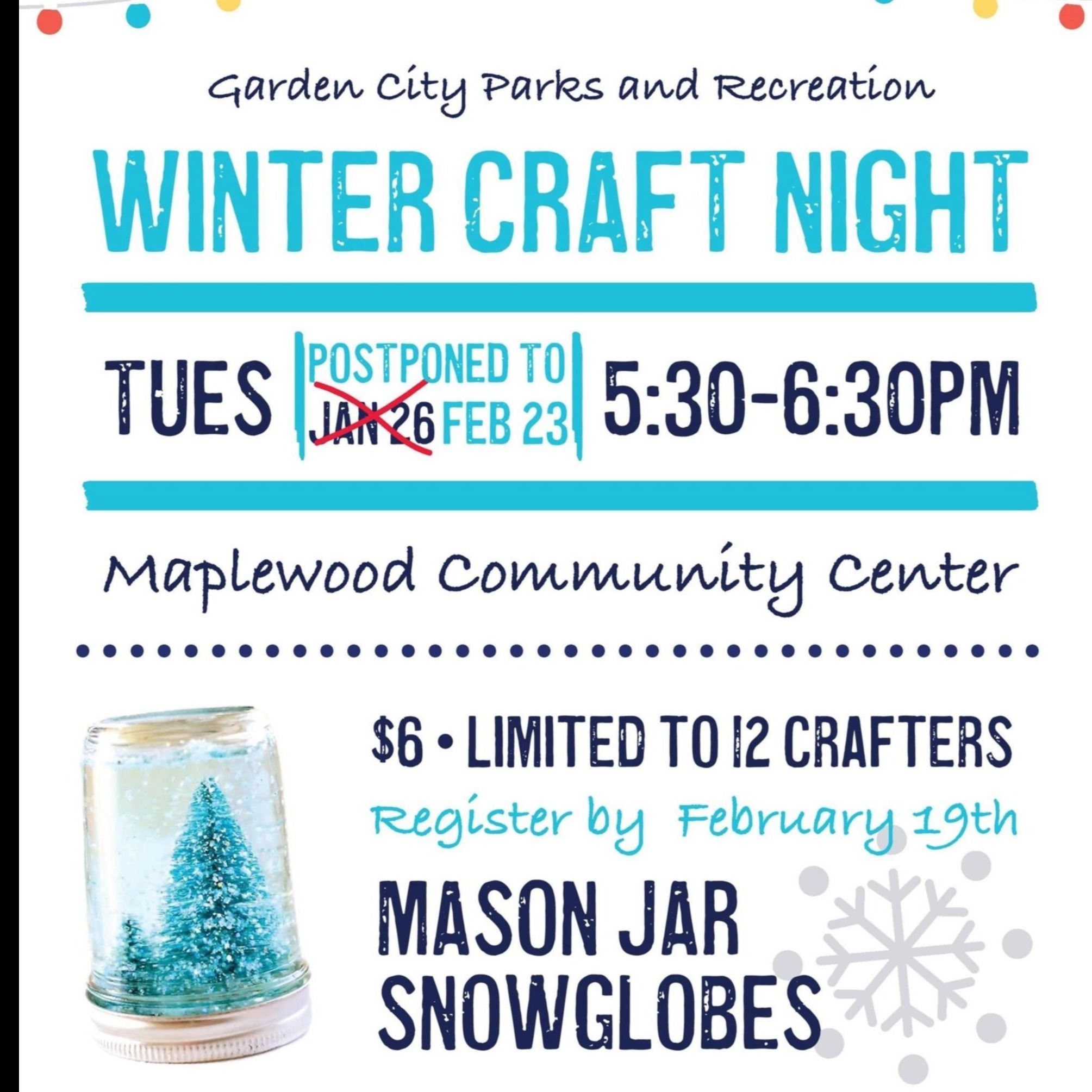 Winter craft night Feb 2021