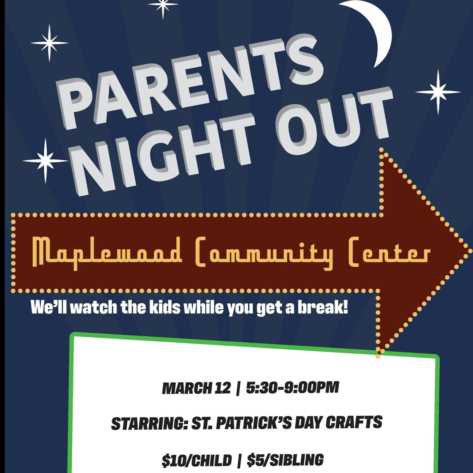 Parents Night Out Updated flyer