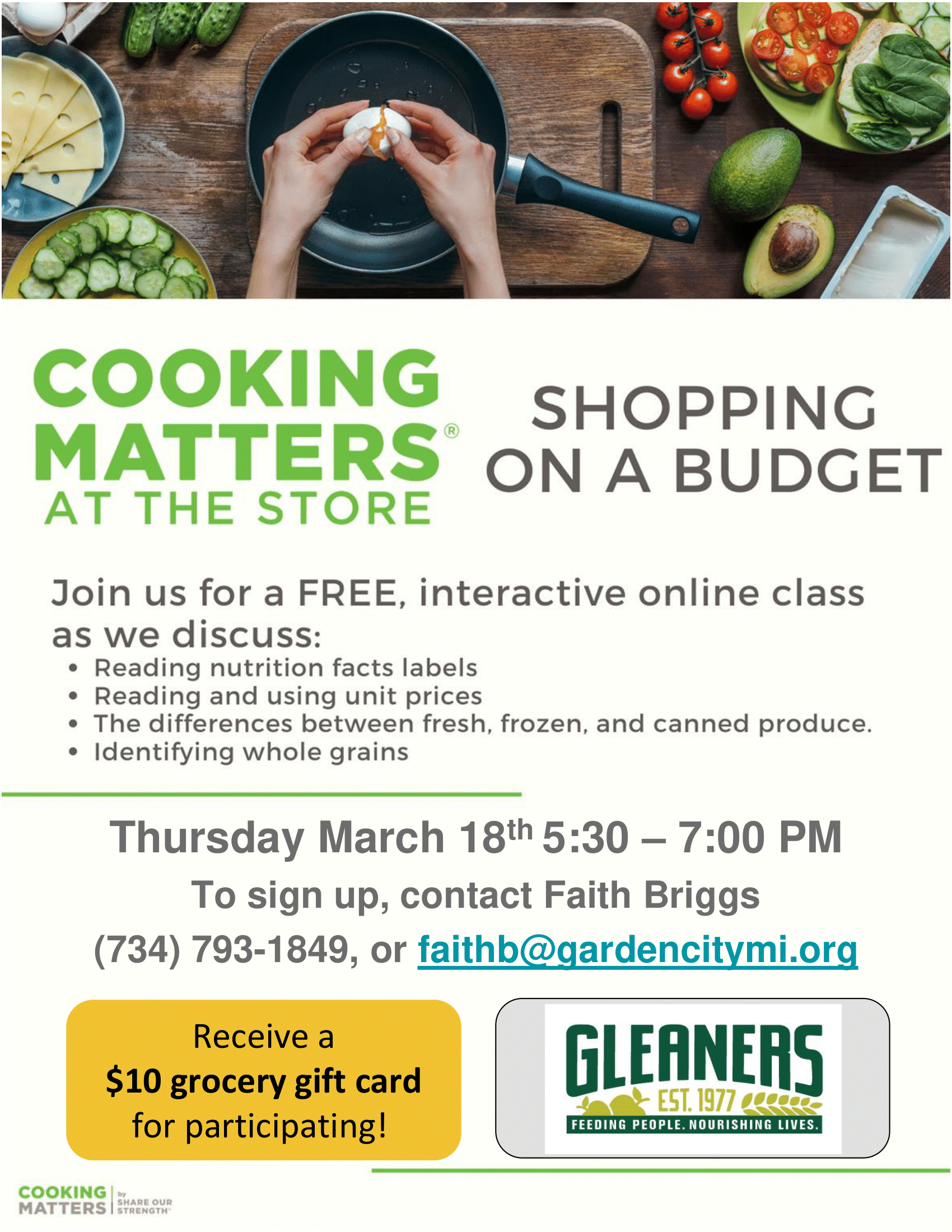 Cooking Matters at the Store FREE