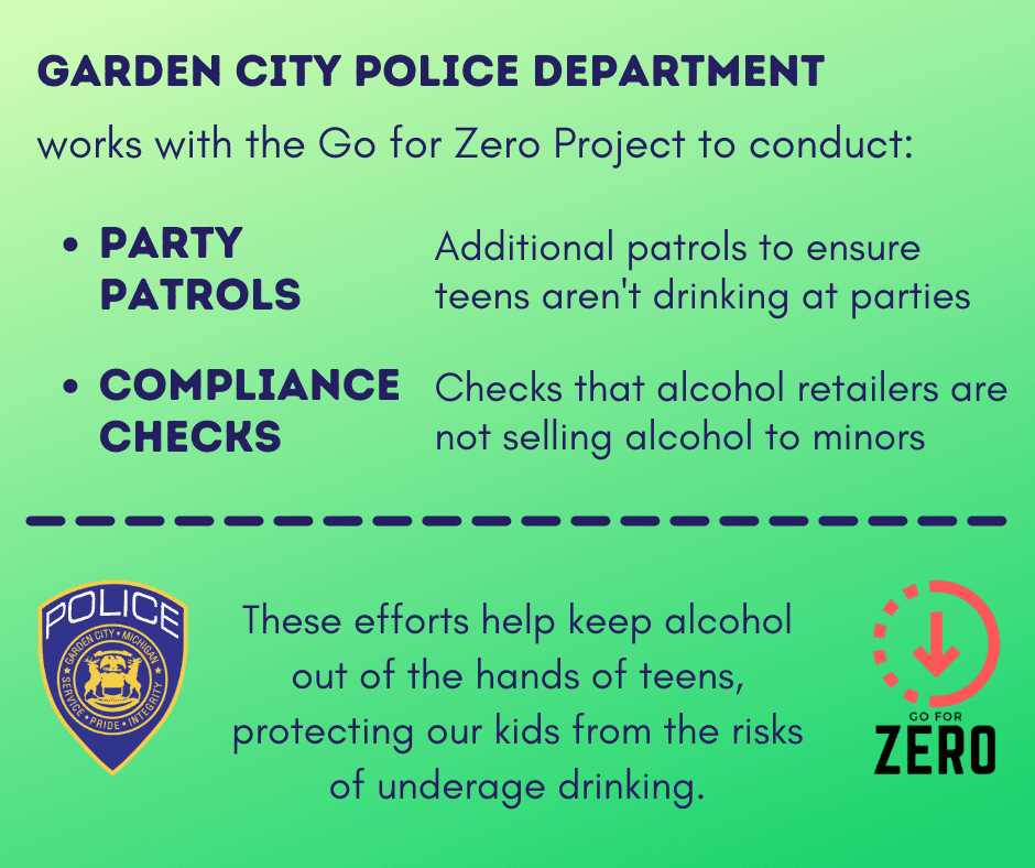 Go for Zero partners with GCPD's Underage Alcohol Enforcement Team